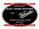 Alex Thorn Motors Cardiff Motorcycle Dealer Decals Transfers DDQ103